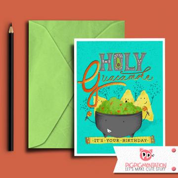 Holy Guacamole! Birthday Card