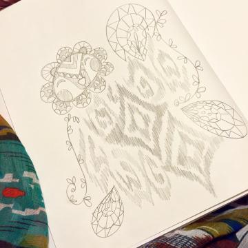 DandiLION Ikat Print Sketch