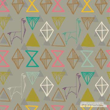 Llami Origami Repeat Pattern